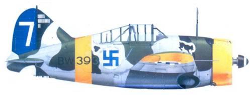 Брюстер «модель 239» 1-го лейтенанта Ханса Винда, январь 1943г