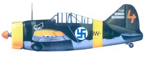 Брюстер «модель 239» уоррент-офицера Илмари Юуутилайнена, декабрь 1942г.