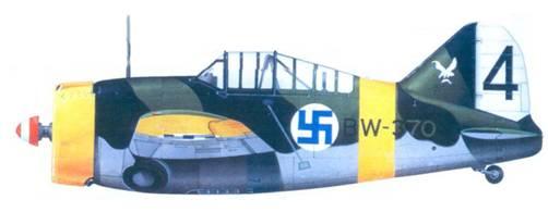 Брюстер «модель 239» 1-го лейтенанта Аулиен Лумми. октябрь 1942г.