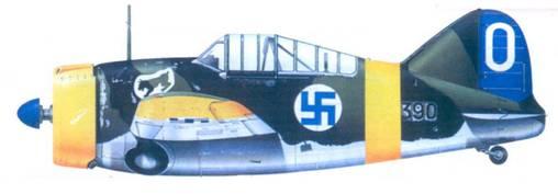 Брюстер «модель 239» 2-го лейтенанта Кая Митсолы, октябрь 1941г.