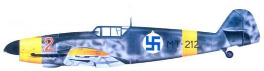 Bf.109G-2 уоррент-офицера Илмари Юуутилайнена, май 1943г.