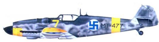Bf.109G-6/R-6 1-го лейтенанта Микко Пасилы, 1944г.