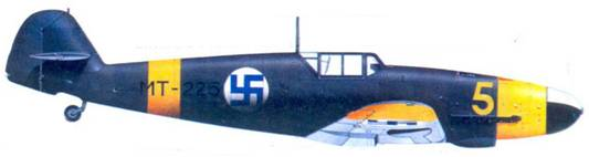 Bf.109G-2 1-го лейтенанта Лаури Ниссинена, май 1944г.