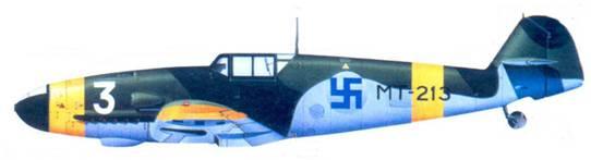 Bf. 109G-2 1-го лейтенанта Ииро Риихикаллио, май 1944г.
