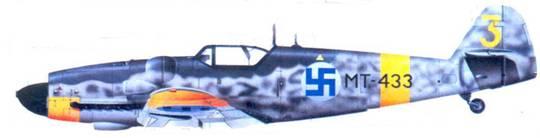 Bf.1090G-6 капитана Олли Пухакка, август 1944г.