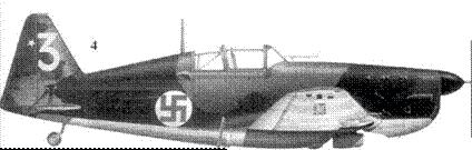 4.Моран-Солнье MS.406 MS-318/ желтая «3» 2-го лейтенанта Паули Массинена, 3/LLv-28, Сякиля, февраль 1940г. Пятна серого, зеленого и темно-коричневого цветов. Кок винта — черный.