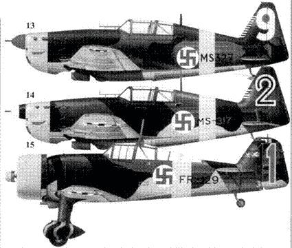 13.Моран-Солнье MS. 406 MS-329/ «белая 9» стафф-сержанта Урхо Лихтоваара, 2/LeLv-28, Впитана, ноябрь 1941г.