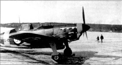 Прототип истребителя Мёркё Моран (бортовой код «MS-631»), аэродром Тампере, февраль 1943г. В вариант Мёркё Моран путем установки полученных из Германии трофейных советских авиадвигателей М-105 был переоборудован 41 истребитель MS. 406. Последний в истории финских ВВС ас (он же самый молодой!) 21-летний стафф-сержант Паре Хаттинен из l/HLeLv-28 сбил на Мёркё Моране три советских самолета (16 июля 1944г. Як-1 и 30 июля 1944г. две «Аэрокобры»). Это были первые победы, одержанные на Мёркё Моране.