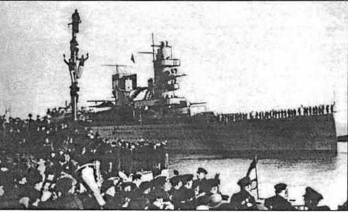 De Ruyter отправляется к месту службы в Голландскую Ост-Индию. 12.01.1937 года
