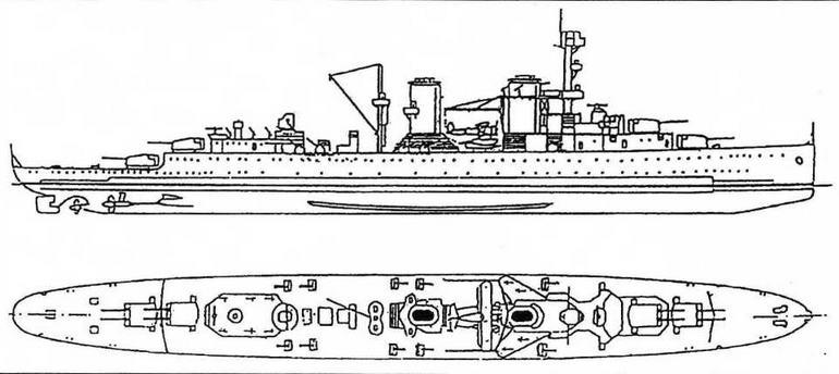 Согласно разработанному в конце 30-х годов проекту новой модернизации крейсеров типа Java главная артиллерия должна была размещаться в четырех двухорудийных башнях, расположенных в диаметральной плоскости, а зенитное вооружение кораблей усиливалось десятью сдвоенными установками 40-мм орудий Bofors