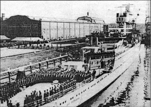 Схидам, 2 (3) октября 1936 года. Церемония введения крейсера в строй проходила в присутствии королевы Вильгельмины