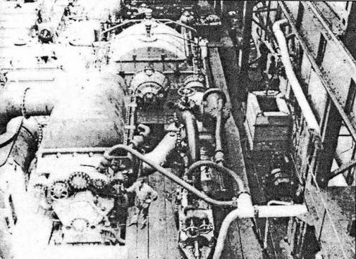 Испытания турбин корабля в цехе завода KM De Schelde во Флиссингене