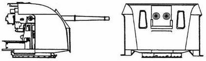 Двухорудийная 102-мм установка Vickers QFMkXVI/MkXIX