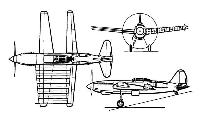 Проект без будущего – истребитель РК – раздвижное крыло, отклоненный комиссией А.С. Яковлева