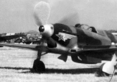 Як-7 из состава эскадрильи, построенной на средства колхозников Башкирской АССР, корпус Е. Савицкого. Апрель 1943г.