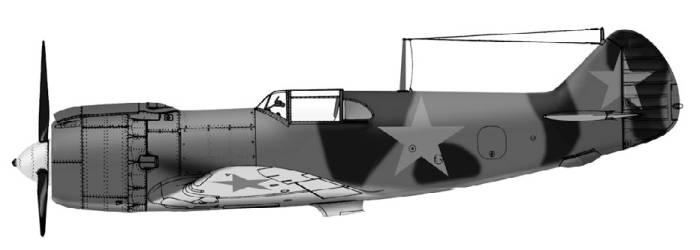 Истребитель Гу-82 (рисунок М.Орлова)