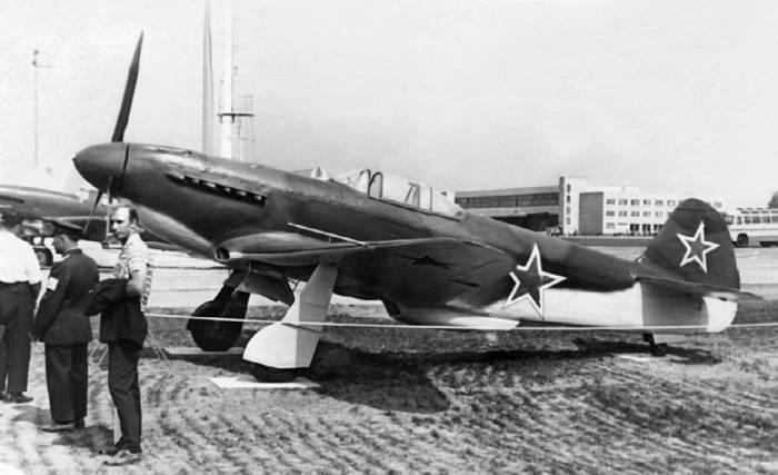 Музейный экспонат Як-3 на выставке в Домодедово. 1967 год