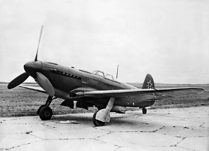 Як-9У с ВК-107А и металлическим крылом (заводской №01–03). Госиспытания, сентябрь 1943 года