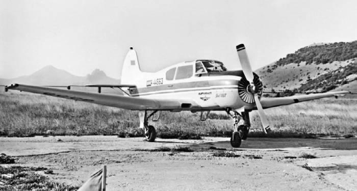 Четырехместный самолет первоначального обучения Як-18Т