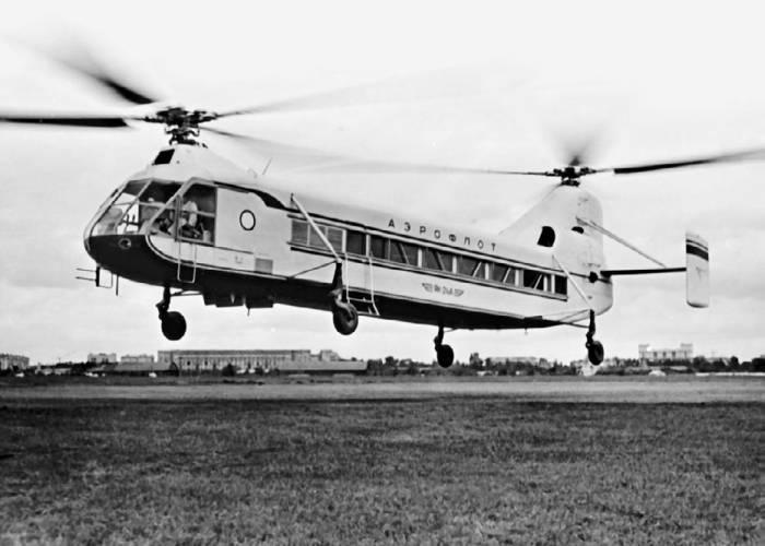 Пассажирский вариант вертолета Як-24П