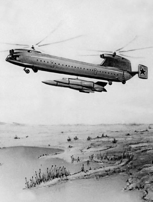 Один из последних проектов тяжелого вертолета с газотурбинными двигателями