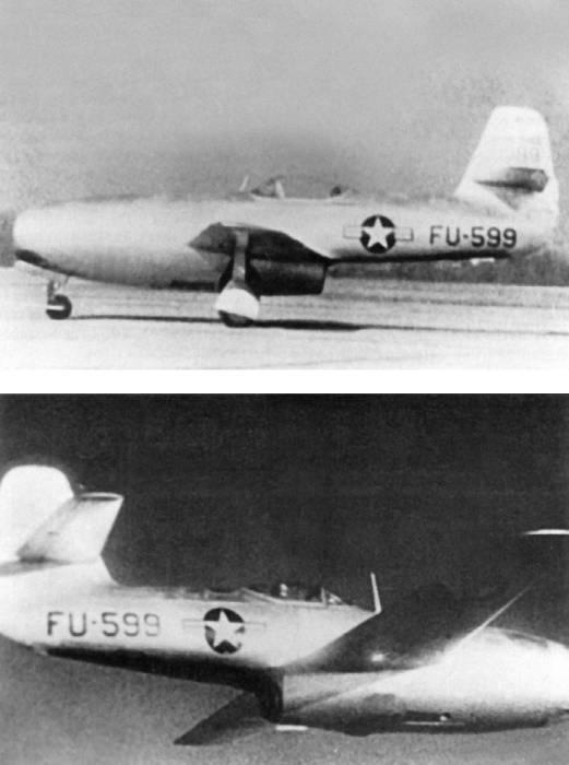 Як-23 на испытаниях в США