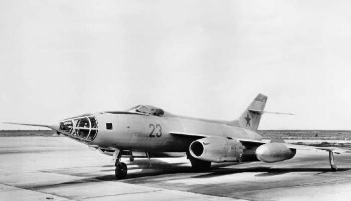 Як-27Р №0710 на контрольных испытаниях