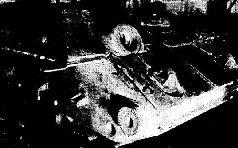 Экранированный Т-34 завода № 112 на фронте. Осень, 1942 г.