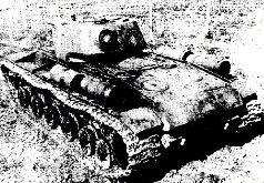 Танк КВ-1С опереди. Осень, 1942 г.