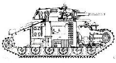 Проектное изображение танка 126-2, 1940 г.