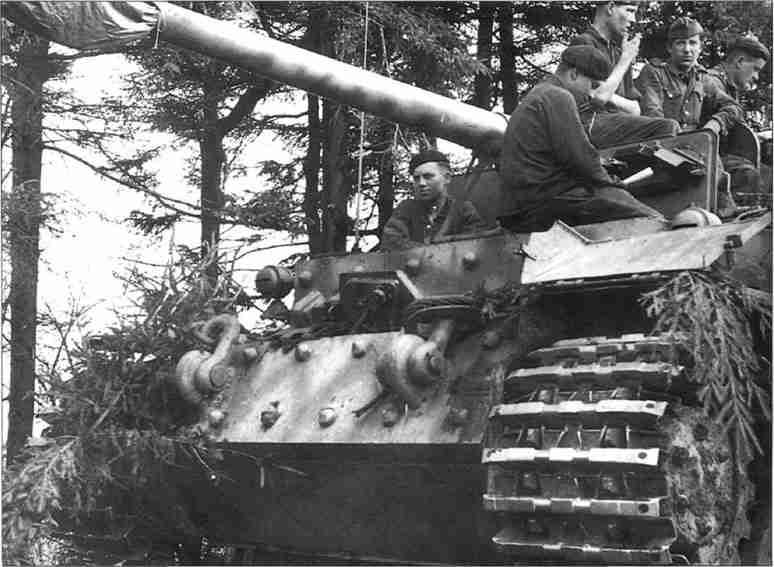 «Фердинанд» 653-го батальона истребителей танков перед боями.