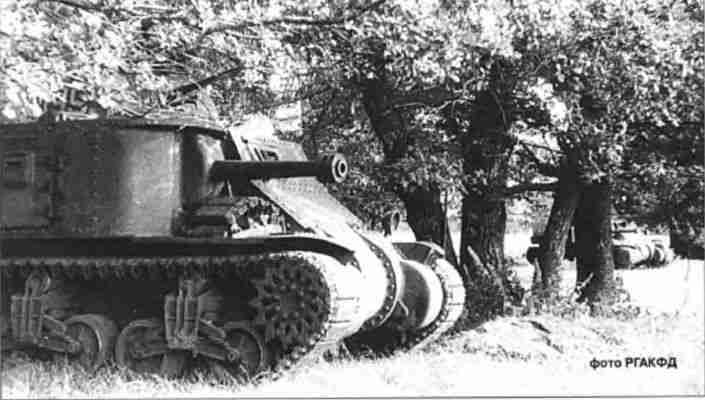 Средние танки МЗ на исходной позиции. Орловское напр. Июль-август 1943г.
