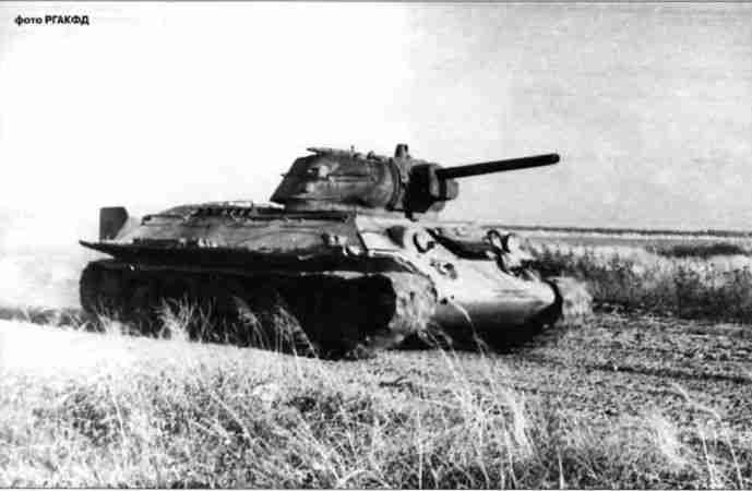 Тридцатьчетвёрка завода №112 «Красное Сормово», где-то под Обоянью. Скорее всего— 1-я танковая армия, июль 1943г.