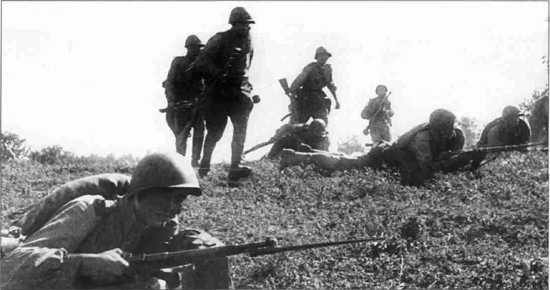 Советская пехота в наступлении. Август 1943г. (Фото из коллекции авторов).
