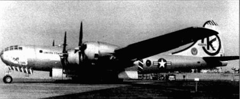 KB-29M «Homogenized Ethyl» из 43-й заправочной эскадрам, баю Дэвис-Монтан. Аризона, 1950 год. Первые КВ-29М появились в составе американской стратегической авиации в 1948 году.
