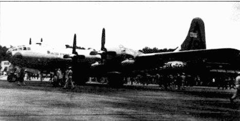В-50А (46-37) из 28-го крыла на базе Боллинг, май 1948 года. Всего «Боинг» построил 59 самолетов В-50А.