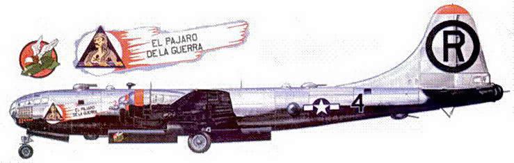 В-29 «El Pajaro De La Guerra» из 9-й группы. 1945 год.