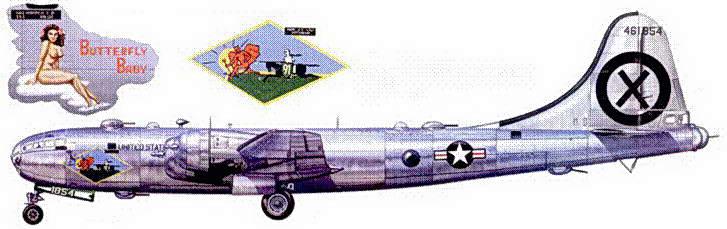 KB-29 «Butterfly Baby» из 91-й разведывательной эскадрильи, Йокота. 1950 год.