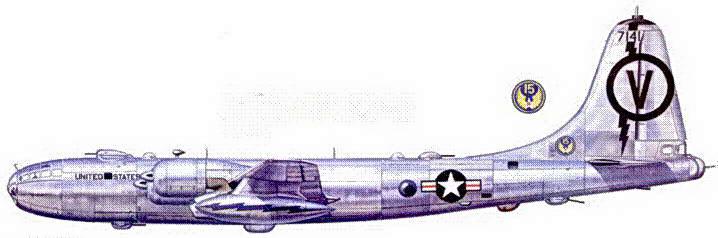 RB-50F из 55-го разведывательного крыла, база Рамей. Пуэрто-Рико. 1952 год.