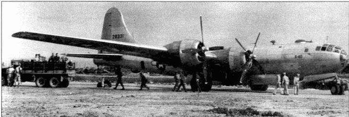 26 апреля 1944 года. В-29 впервые вошел в огневой контакт с японскими истребителями. Самолет получил незначительные повреждения. хвостовой стрелок заявил один сбитый истребитель.