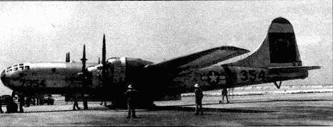 В-29 « The Big Slink» из 509-й группы. Позднее этот самолет, уже под названием «Dave's Dream» сбросит 1 июля 1946 года на атолл Бикини атомную бомбу.
