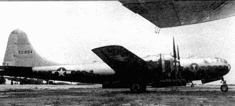 B-29-96-BW «The Еуе» во время испытаний на атолле Бикини служил в качестве транспортного самолета, доставив наблюдателей в район испытаний.