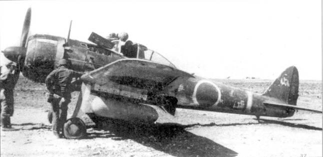 Ки-43-II-Каи, 1-й чутай, 1-й сентай, захваченный на аэродроме Йонтан солдатами 4-го полка морской пехоты 6-й дивизии морской пехоты, 1 апреля 1945 года.