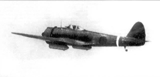 Ки-43-I-Хей, 3-й чутай, 64-й сентай. Видны подвесные бензобаки.