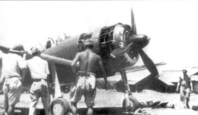 Техническое обслуживание Ки-43-II, 64-й сентай, Бирма, 1943 год.