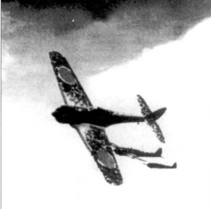 Отряд Ки-43-II-Оцу, 64-й сентай в ходе патрулирования над Бирмой, апрель 1944 года.