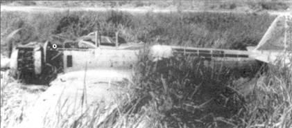 Сбитый над Новой Гвинеей Ки-43-II-Ко из 3-го чутая 63-го сентая.