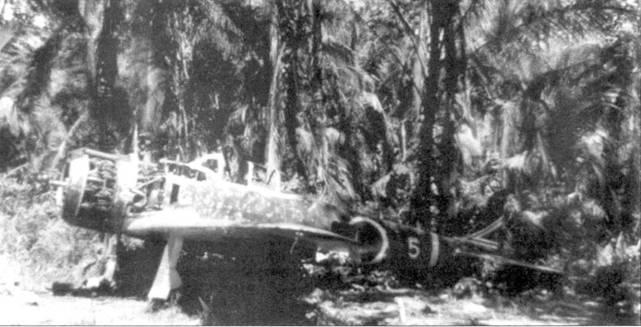 Брошенный Ки-43-II-Ко из 2-го чутая 33-го сентая, Голландия, апрель 1944 года.