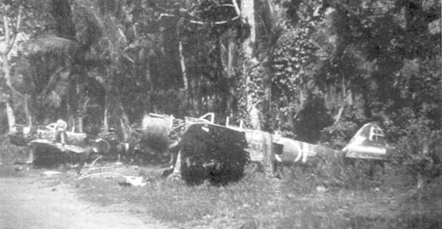 Брошенные Ки-43-II-Ко из 1-го чутая 77-го сентая, Голландия, апрель 1944 года.