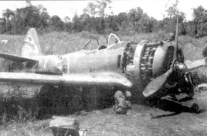 Остатки Ки-43-II-Оцу из 248-го сентая, аэродром Алексисхафен, Новая Гвинея, лето 1944 года.